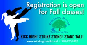 Fall Classes Winding River Taekwon-Do
